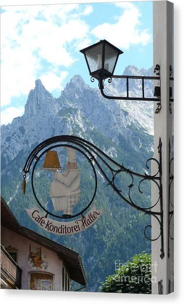 Germany - Cafe Sign Canvas Print