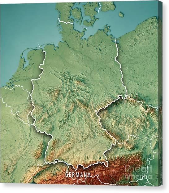topographic maps canvas print germany country 3d render topographic map border by frank ramspott