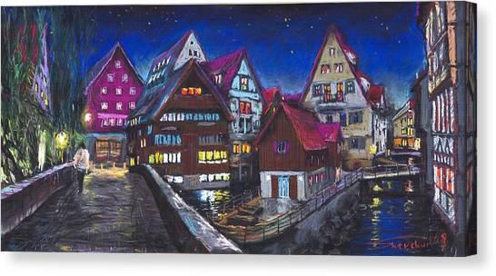 Germany Canvas Print - Germany Ulm Fischer Viertel by Yuriy Shevchuk