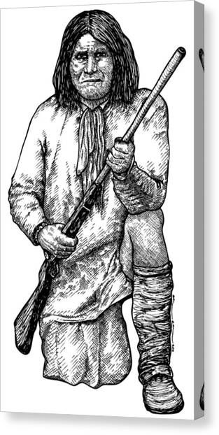 Geronimo Canvas Print by Karl Addison