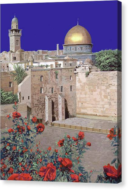 Jerusalem Canvas Print - Gerusalemme by Guido Borelli