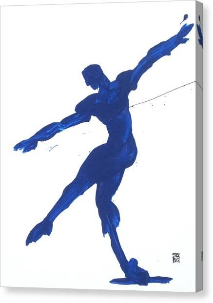 Gesture Brush Blue 2 Canvas Print