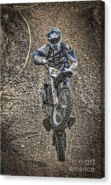 Motocross Canvas Print - Get Dirty by Mitch Shindelbower