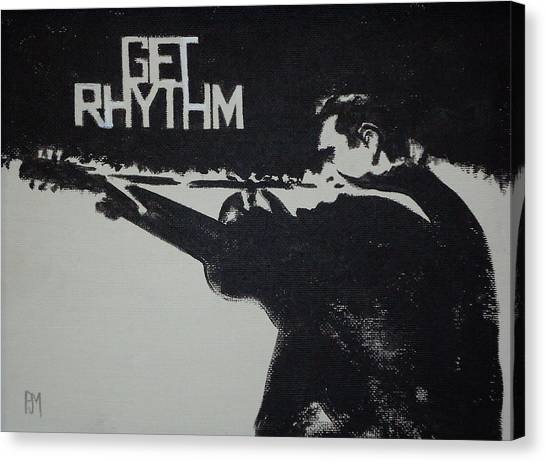 Johnny Cash Canvas Print - Get Rhythm by Pete Maier