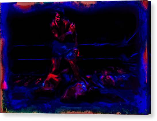 Joe Frazier Canvas Print - Get Up And Fight by Brian Reaves
