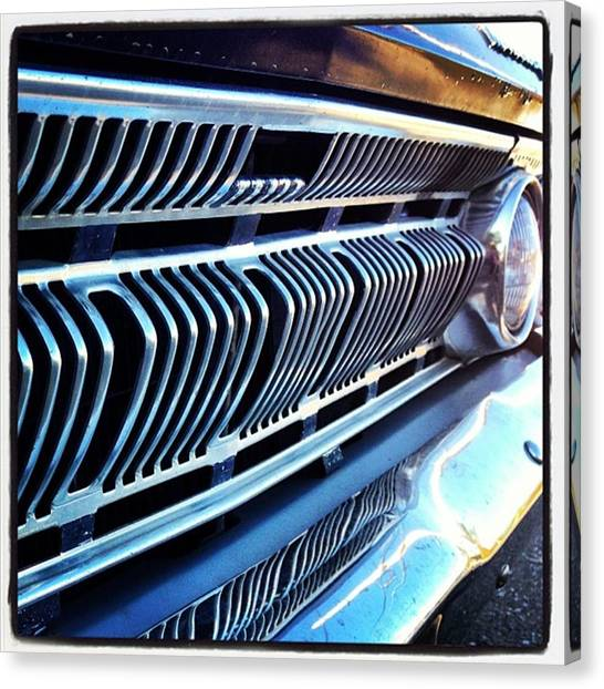 Mercury Canvas Print - Get Up In That Grille by Alicia Boal