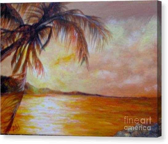 Canvas Print featuring the painting Getaway by Saundra Johnson