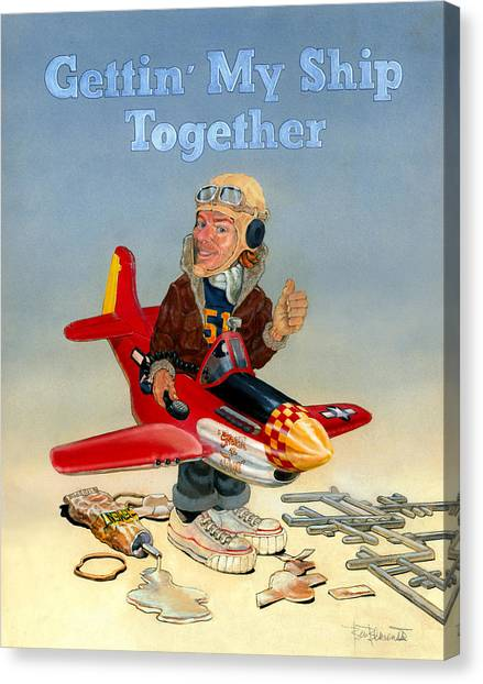Toy Airplanes Canvas Print - Gettin My Ship Together by Ben Bensen III