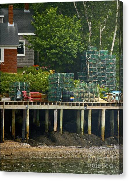 Getting Ready To Lobster Canvas Print by Faith Harron Boudreau