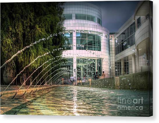 J Paul Getty Canvas Print - Getty Architecture Museum Los Angeles California  by Chuck Kuhn