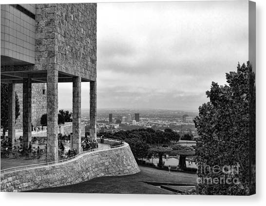 J paul getty canvas print getty blk n wht by chuck kuhn
