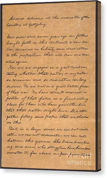 Canvas Print - Gettysburg Address by Granger