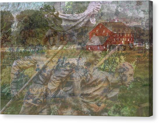 Army Of The Potomac Canvas Print - Gettysburg Back In Time by Randy Steele