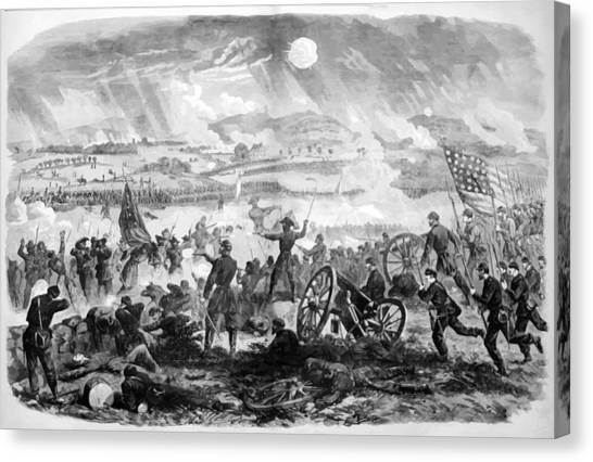 Cemetery Canvas Print - Gettysburg Battle Scene by War Is Hell Store
