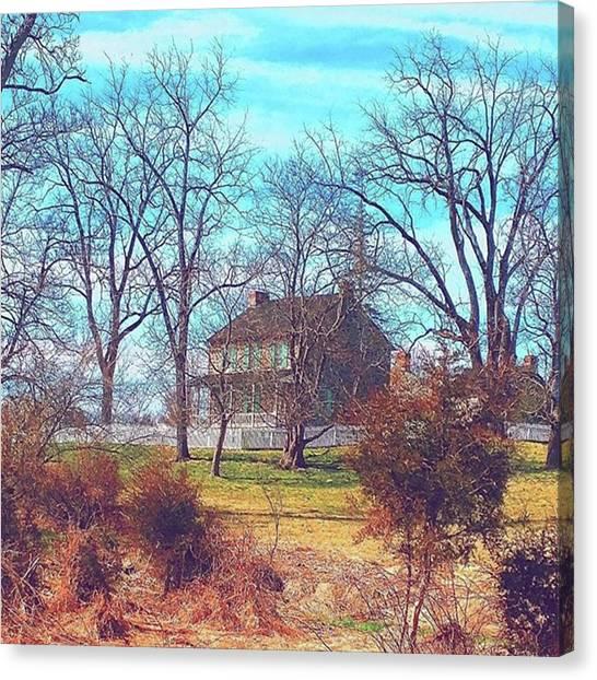 Farmhouse Canvas Print - Gettysburg Battlefield Rose Farm by Paul Kercher