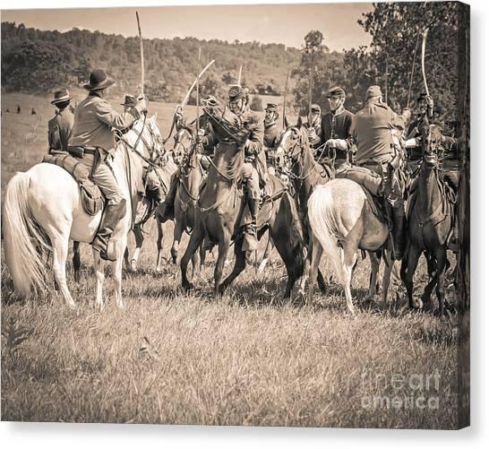 Gettysburg Cavalry Battle 7970s  Canvas Print