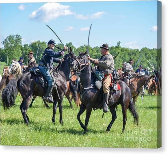 Gettysburg Cavalry Battle 7978c  Canvas Print