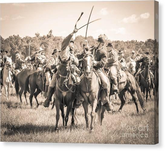Gettysburg Cavalry Battle 7992s  Canvas Print