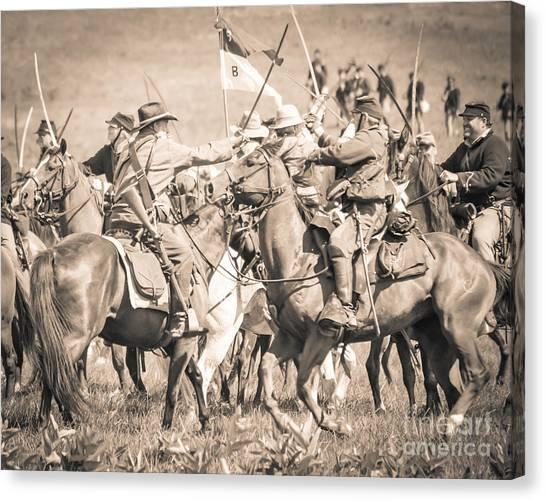 Gettysburg Cavalry Battle 8021s  Canvas Print