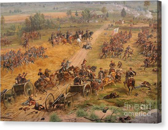 Army Of The Potomac Canvas Print - Gettysburg Cyclorama Detail Two by Randy Steele