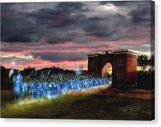 Gettysburg Evergreen Canvas Print by Tom Straub
