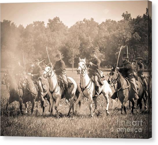 Gettysburg  Union Cavalry 7901s  Canvas Print