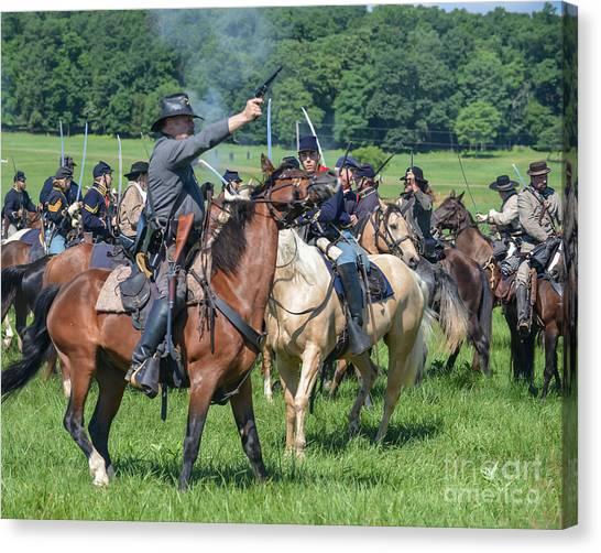 Gettysburg  Union Cavalry 7920c  Canvas Print