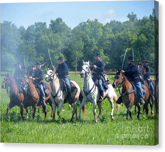 Gettysburg  Union Cavalry Canvas Print