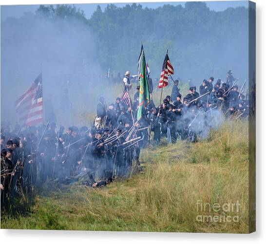 Gettysburg Union Infantry 8947c Canvas Print