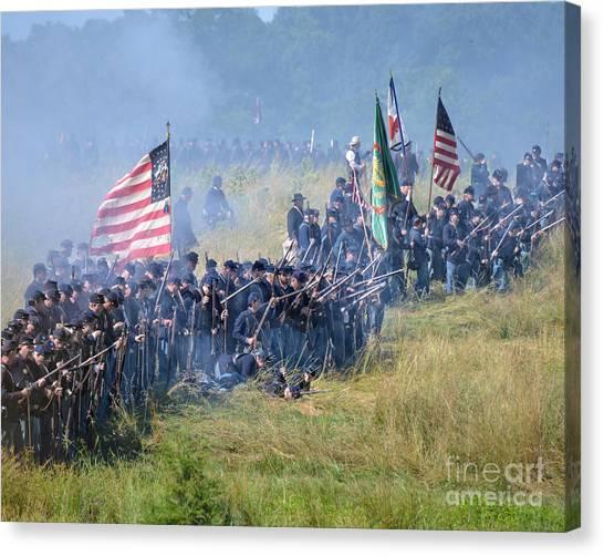 Gettysburg Union Infantry 8948c Canvas Print
