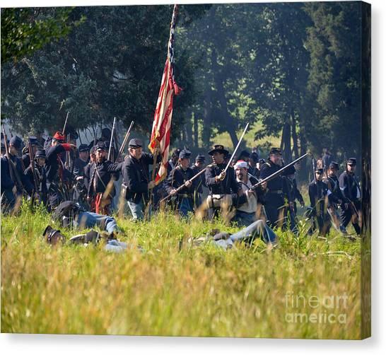 Gettysburg Union Infantry 9348c Canvas Print