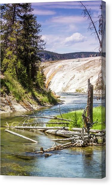 Geyser Stream Canvas Print