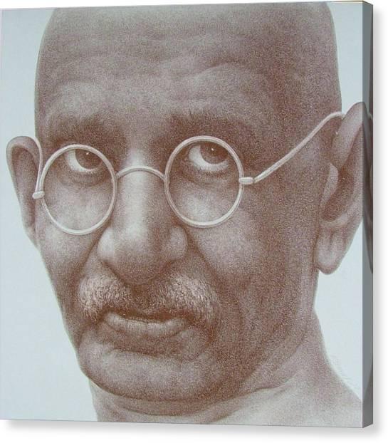 Ghandi Canvas Print by Gary Kaemmer