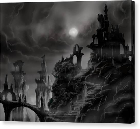 Ghost Castle Canvas Print
