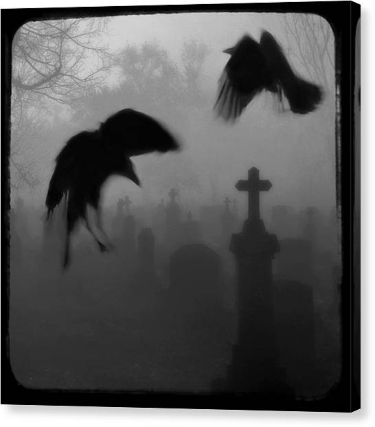 Blackbirds Canvas Print - Ghost Crows by Gothicrow Images