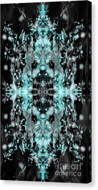 Canvas Print featuring the digital art Ghost Flake Inverted by Reed Novotny