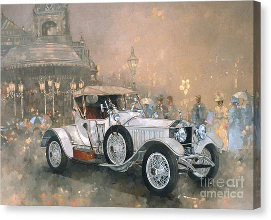 Car Canvas Print - Ghost In Scarborough  by Peter Miller