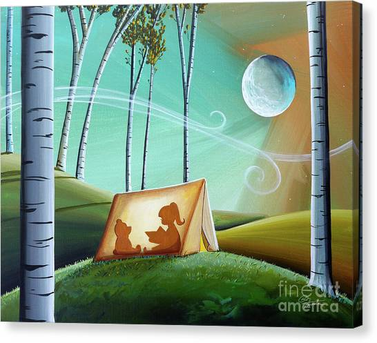 Full Moon Canvas Print - Ghost Stories by Cindy Thornton