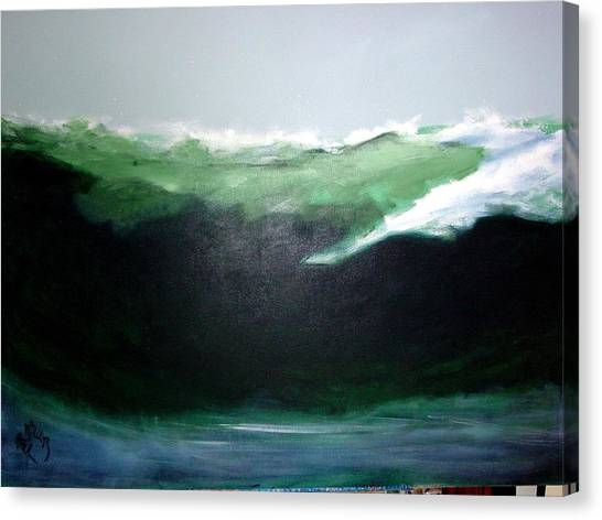 Ghost Surfer Canvas Print
