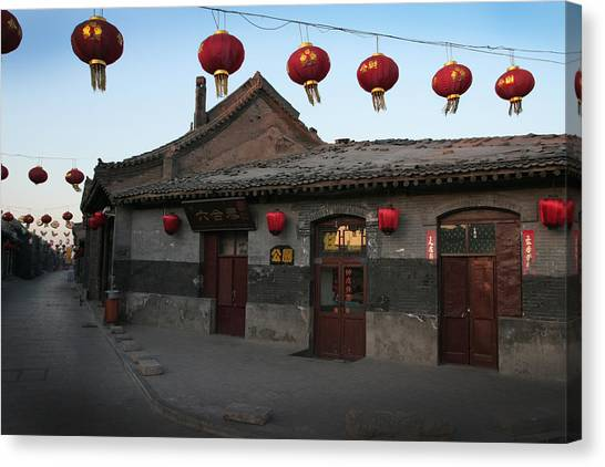Ghost Town On The Eve The Chinese New Year Canvas Print