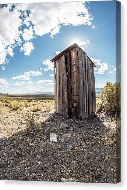 Ghost Town Outhouse Canvas Print