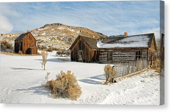 Ghost Town Winter Canvas Print
