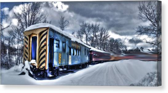 Ghost Train In An Existential Storm Canvas Print