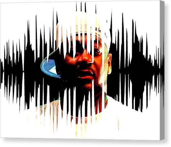Wu Tang Canvas Print - Ghostface Killah by Dr Rusku