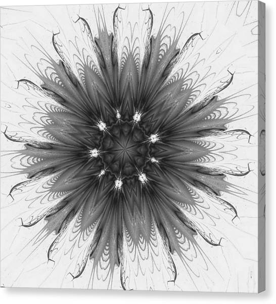 Ghostly Glow Fractal Canvas Print
