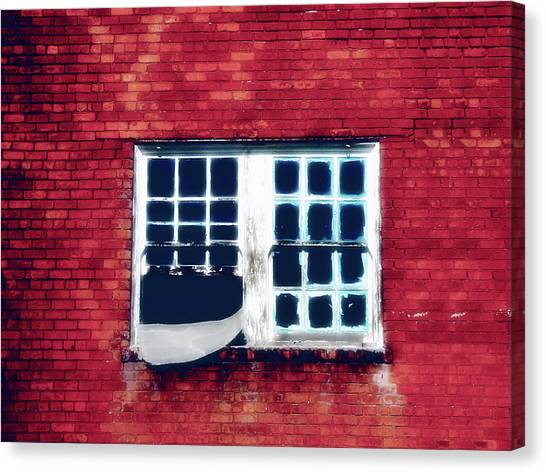 Ghostly Window Canvas Print