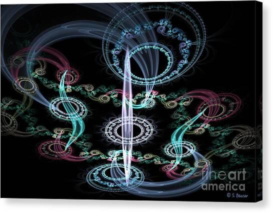 Ghosts In The Machine Canvas Print by Sandra Bauser Digital Art