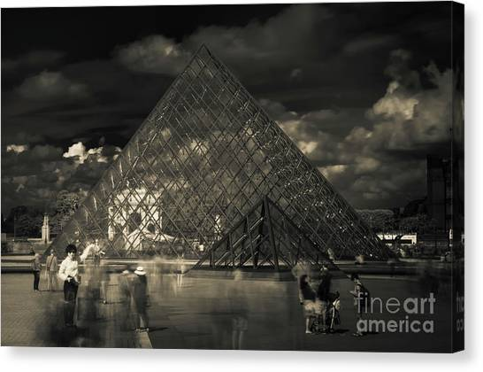 Ghosts Of The Louvre Canvas Print