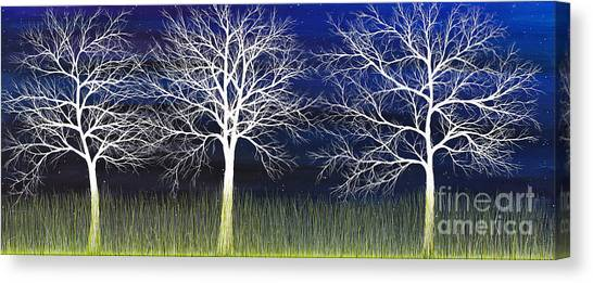 Ghosts Whispering In The Field Canvas Print