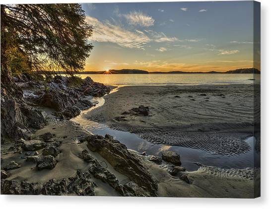 Vancouver Island Canvas Print - Ghostship Sunset by Mark Kiver